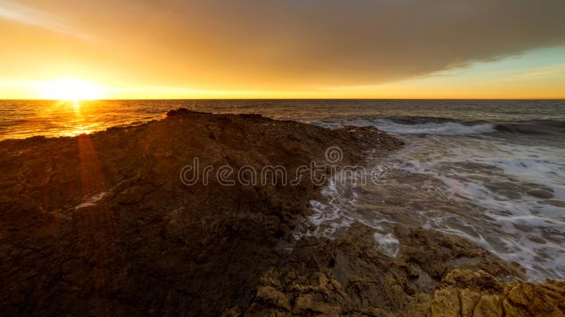 Aardige de zonsopgang aardige stad van hefboomde soleil sur stock fotografie