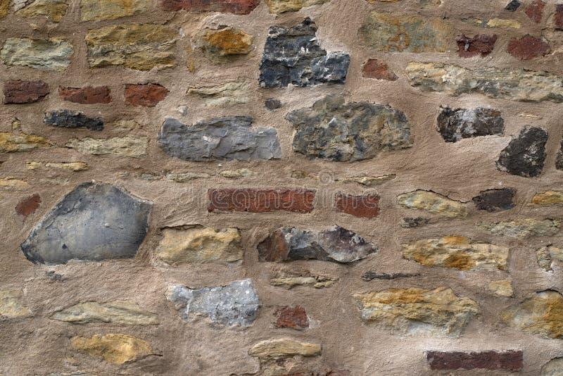 aardige oude uitstekende muur stock foto