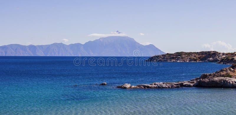 Aardlandschap van Heilige Berg Athos Greece royalty-vrije stock foto