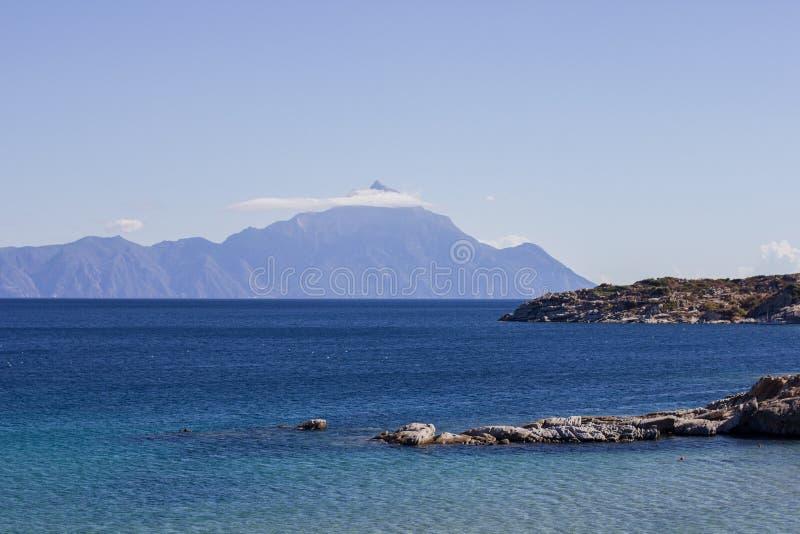 Aardlandschap van Heilige Berg Athos Greece royalty-vrije stock fotografie