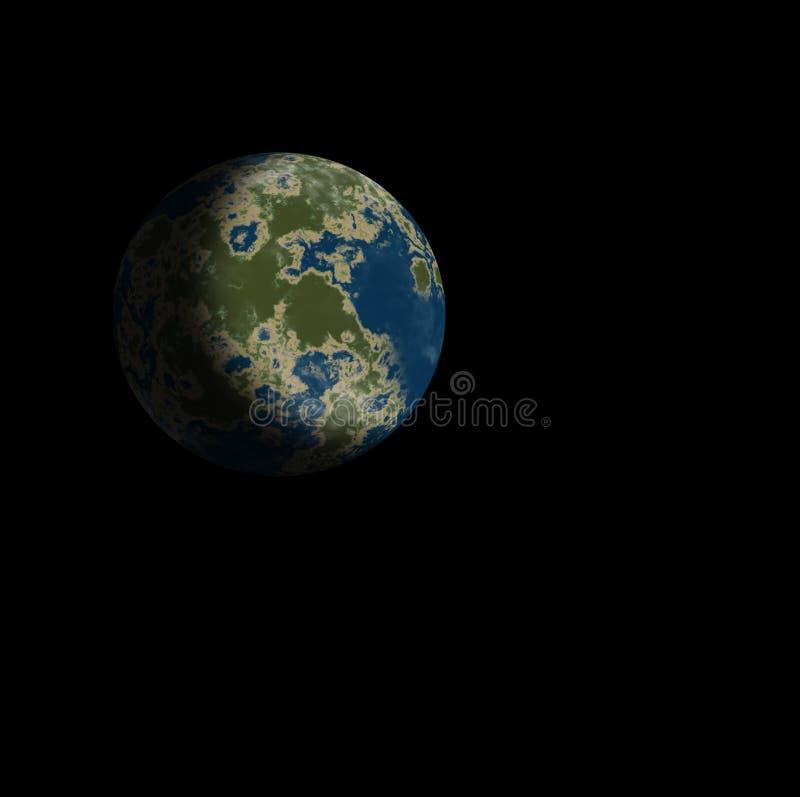 Aardoppervlak, planeet van aards type stock illustratie