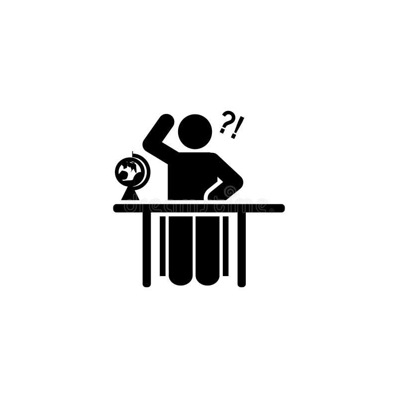 Aardrijkskunde, school, studentenpictogram Element van het pictogram van het onderwijspictogram Grafisch het ontwerppictogram van royalty-vrije illustratie