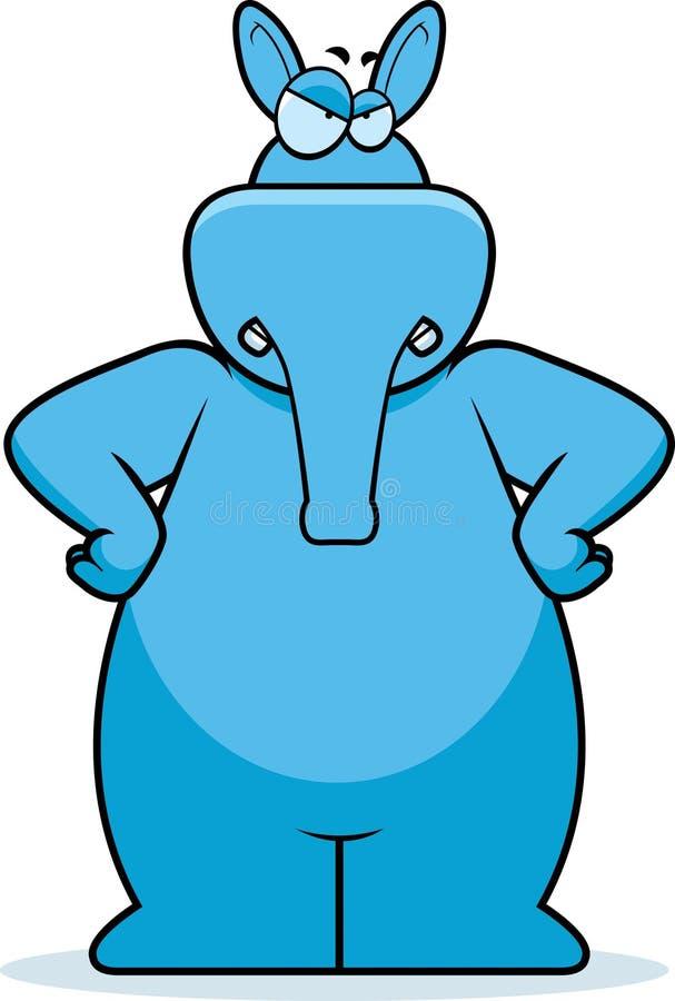 aardvark сердитый иллюстрация штока