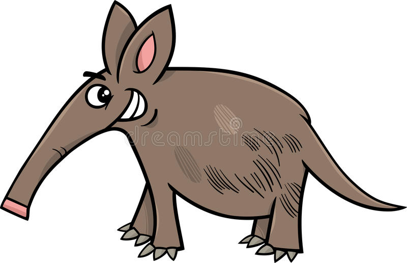 Aardvark Animal Cartoon Illustration Stock Vector ...