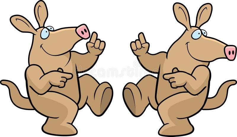 Aardvark Dancing royalty free illustration