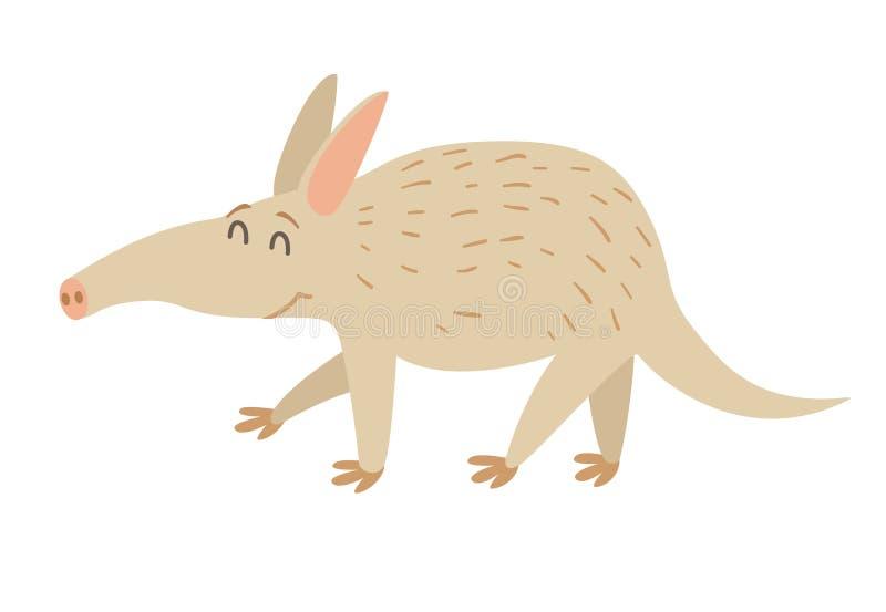 aardvark Ejemplo plano del vector de la historieta libre illustration