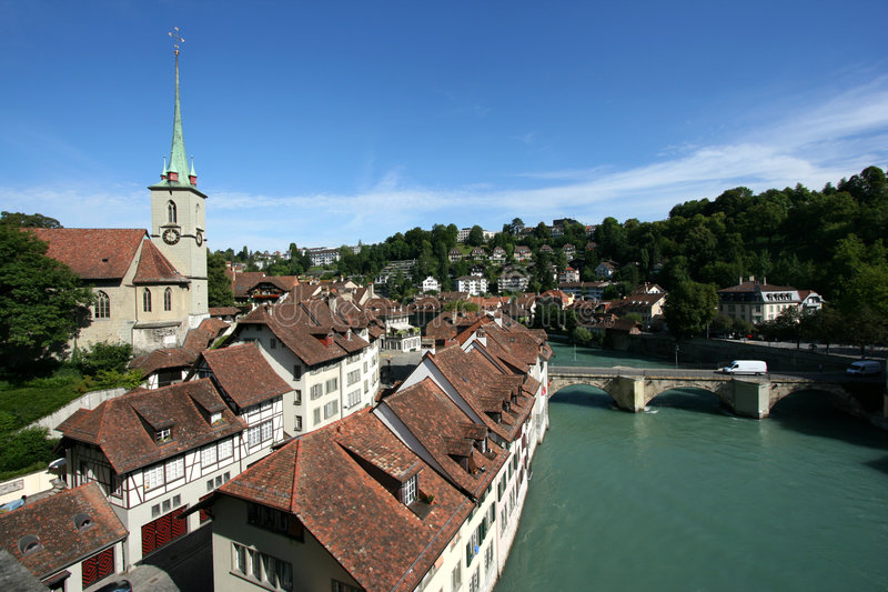Aare and Bern royalty free stock images