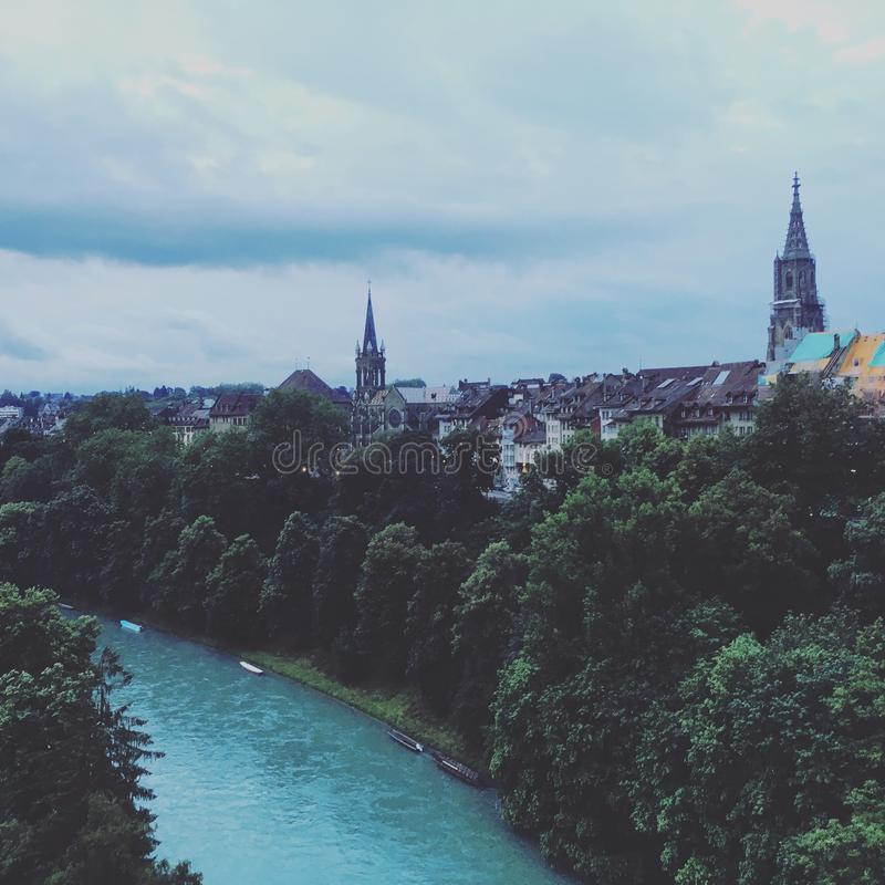 Aare river royalty free stock image