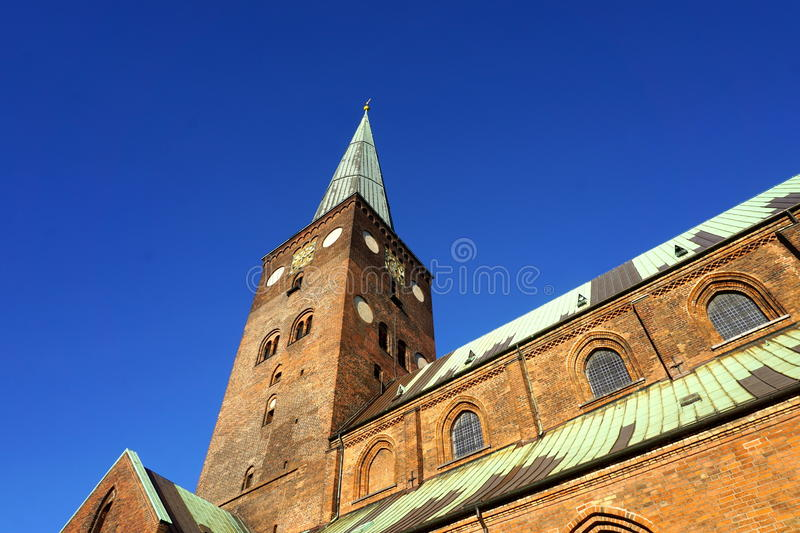 Aarhus cathedral royalty free stock photography