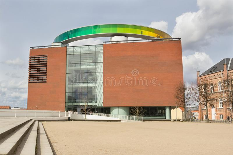 Aarhus, Denmark - April 12, 2015: ARoS Art Museum stock images
