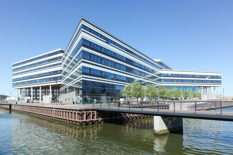 Aarhus docklands in Denmark. Aarhus Dockland is currently a large construction site with many buildings already built in 2015 stock photography