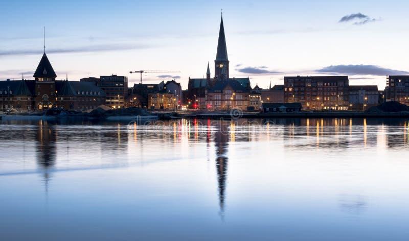 Aarhus skyline, Denmark royalty free stock photos