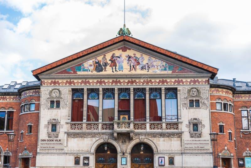 Aarhus Theatre. The Aarhus Theatre Danish: Aarhus Teater in Aarhus, is the largest provincial theater in Denmark, 2017 stock images