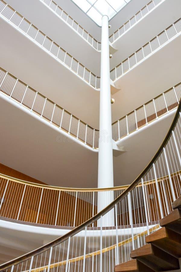Aarhus Town Hall interior, Denmark stock photos