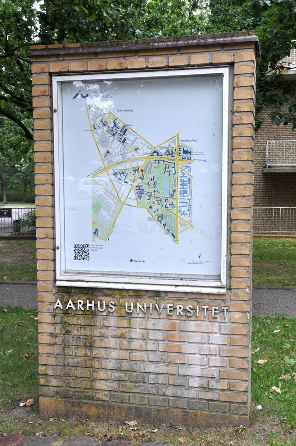 Aarhus uniwersytet obrazy stock