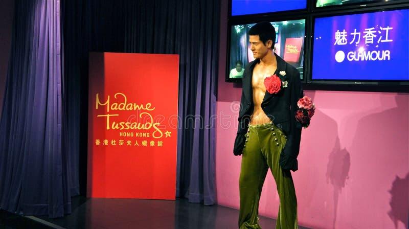 Aaron Kwok dans Madame Tussauds Hong Kong photos stock