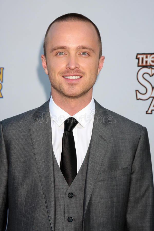 Aaron Paul. LOS ANGELES - JUN 23: Aaron Paul arriving at the 2011 Saturn Awards at Castaways on June 23, 2011 in Burbank, CA stock images