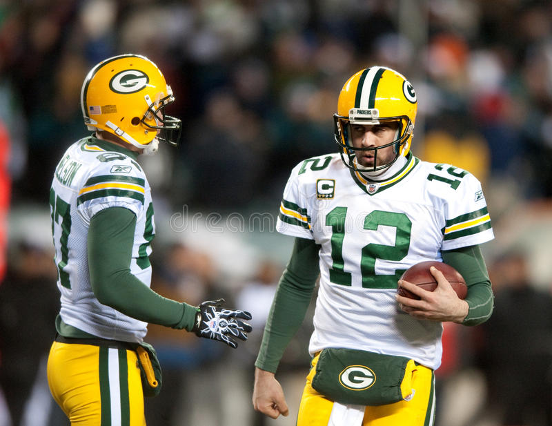 Aaron Rodgers royalty free stock photos
