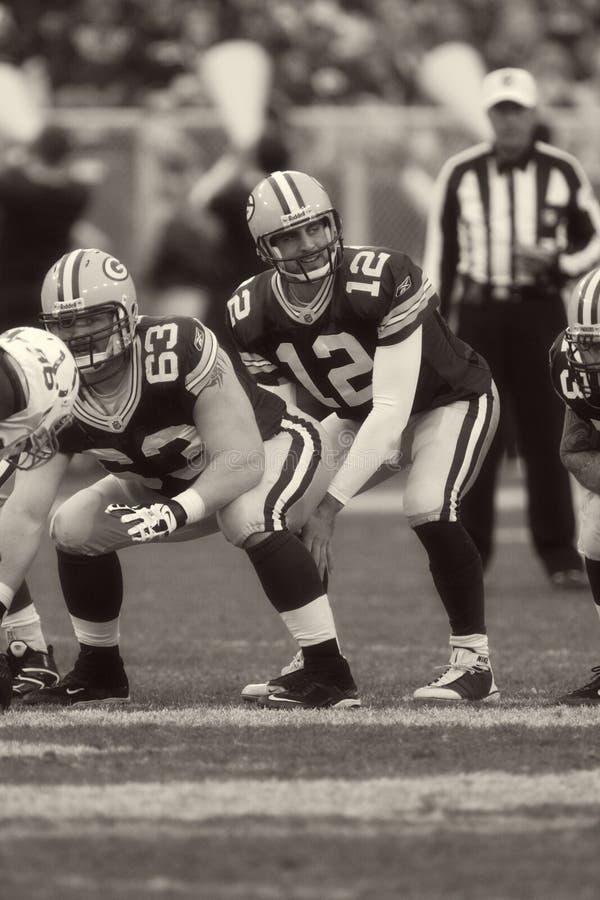 Aaron Rodgers Green Bay Packers fotos de archivo libres de regalías