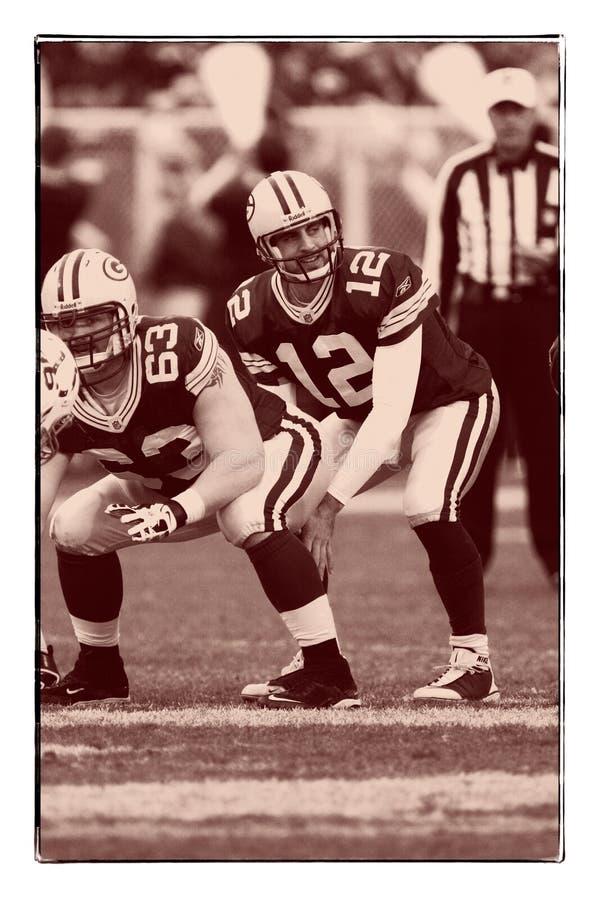 Aaron Rodgers Green Bay Packers fotos de archivo