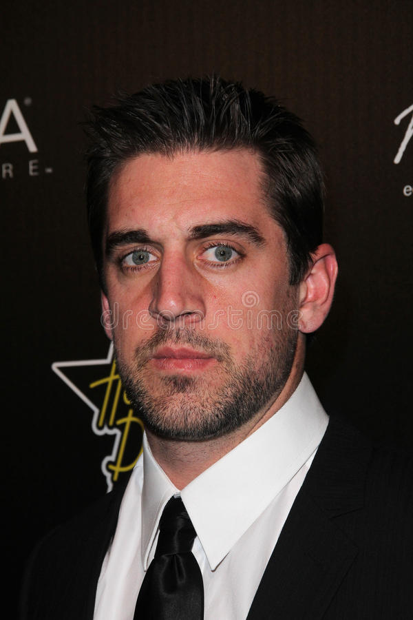 Aaron Rogers at the Hollywood Domino Gala, Sunset Tower Hotel, West Hollywood, CA. 02-24-11 stock photography