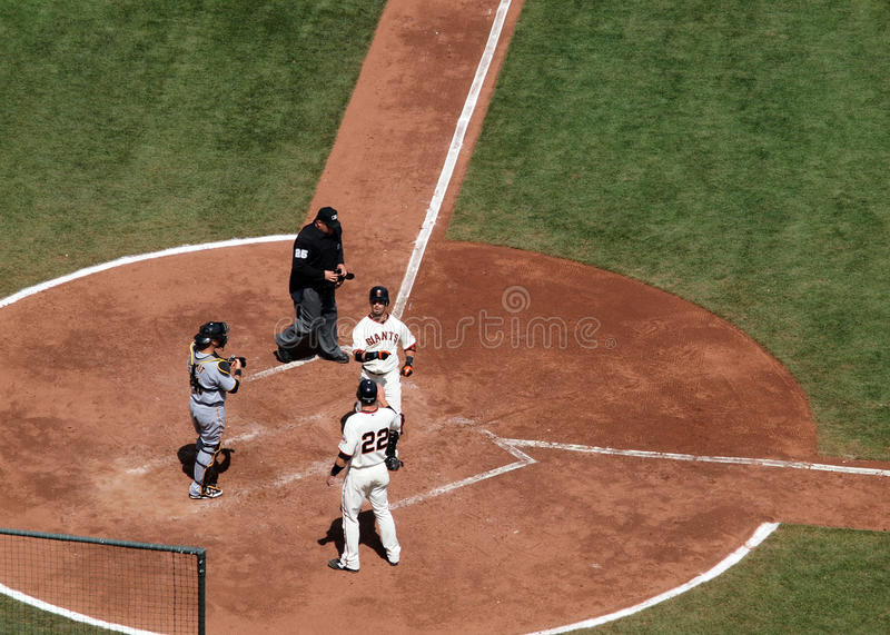 Download Aaron Rowand Celebrates A Home Run At Homeplate Editorial Stock Image - Image: 14207754