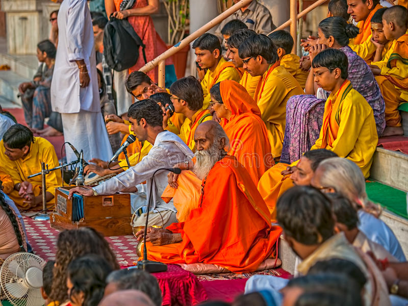 Aarti ceremony in Rishikesh royalty free stock photo