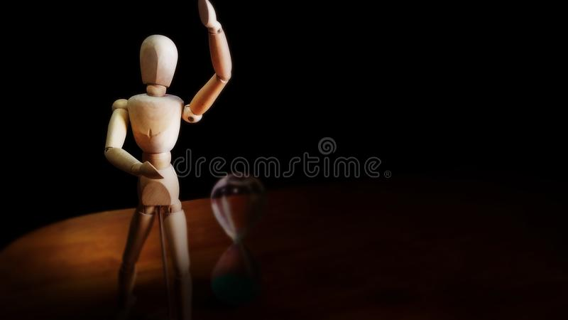 Aarticulated mannequin i hourglass zdjęcie royalty free