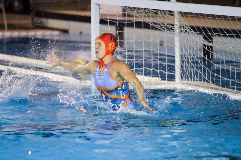 Waterpolo EuroLeague Women Championship Kinef Surgutneftegas Kirishi vs Dunaujvaros royalty free stock photos