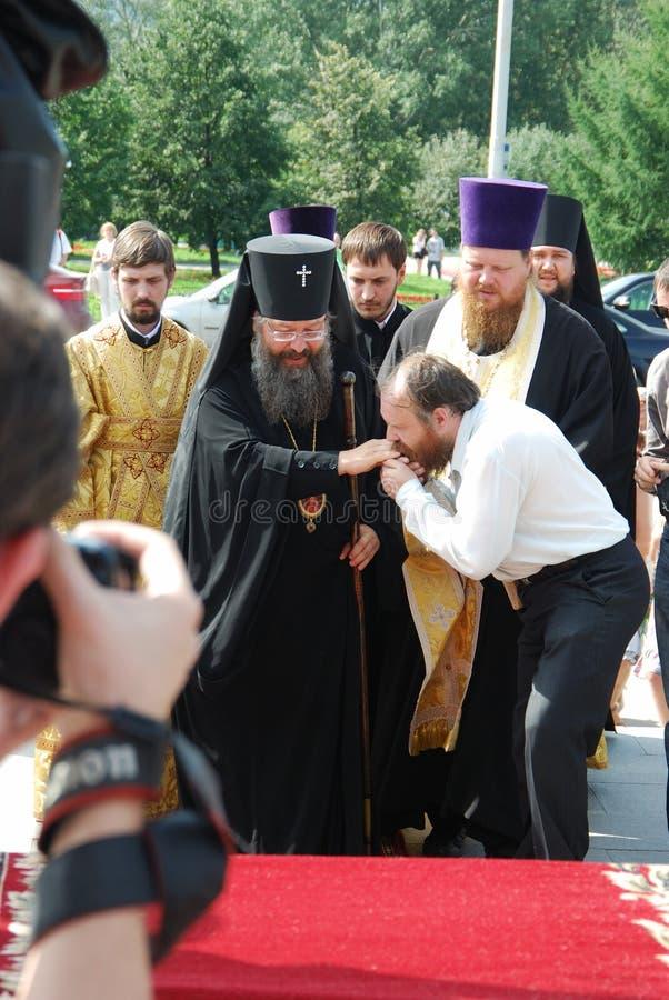 Aartsbisschop van Yekaterinburg en Verkhoturye Kyrill royalty-vrije stock fotografie