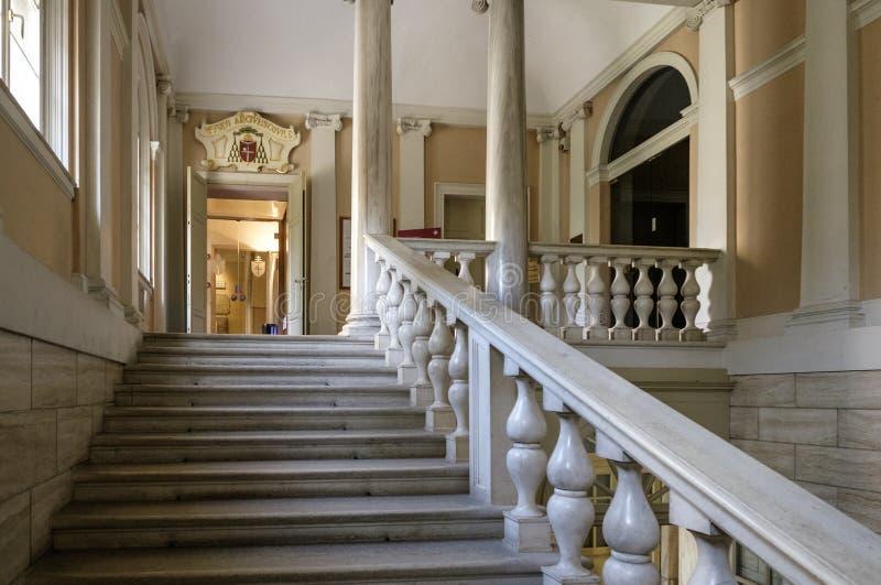 Aartsbisschoppelijke het museum van Ravenna Emilia-Romagna Italië Europa royalty-vrije stock afbeeldingen