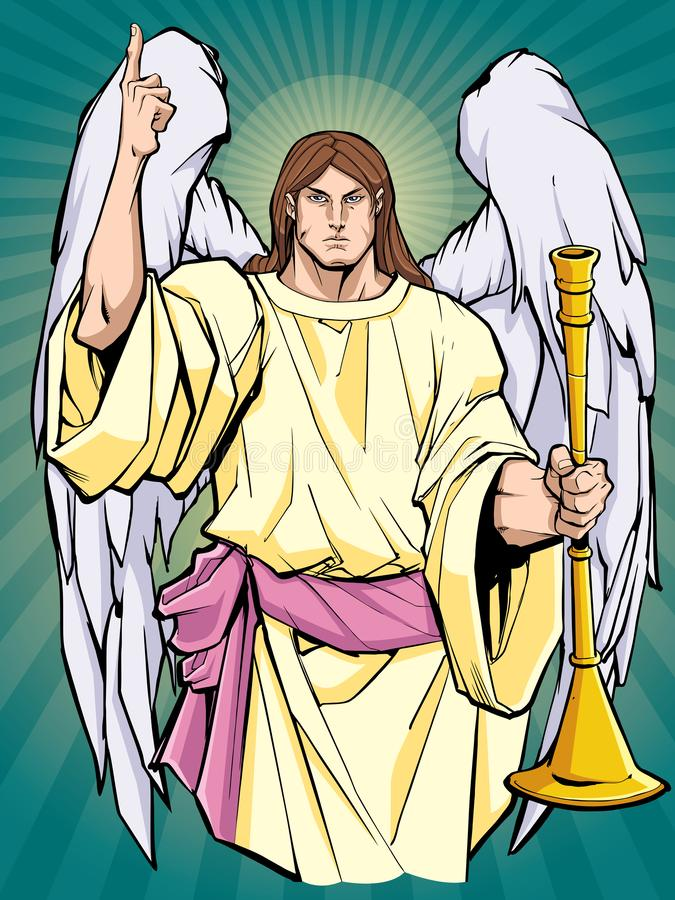 Aartsengel Gabriel Icon stock illustratie