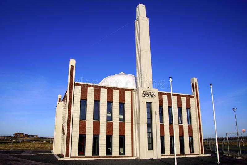 Aas-ul-Afiyat moskee, Almere Poort, Nederland stock afbeeldingen