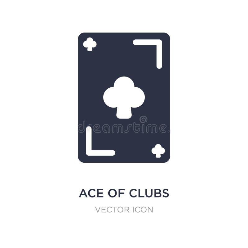 aas van clubspictogram op witte achtergrond Eenvoudige elementenillustratie van Vermaak en arcadeconcept royalty-vrije illustratie