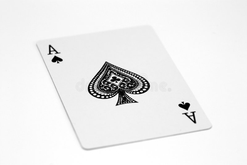 Aas van Spades royalty-vrije stock foto's
