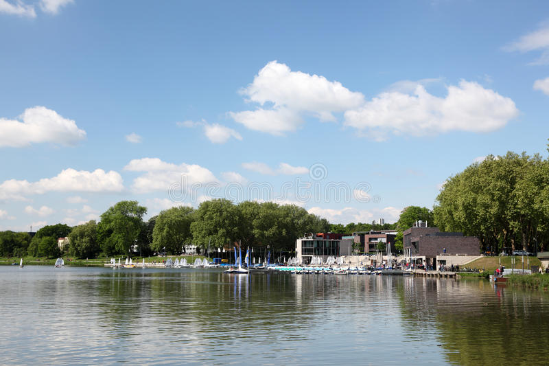 Aaseemeer in Munster, Duitsland stock fotografie