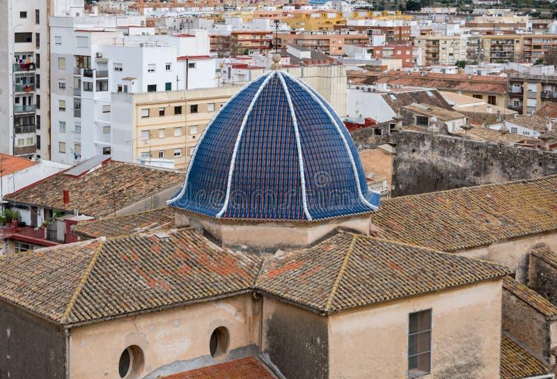 Abóbada azul na cidade fotografia de stock royalty free