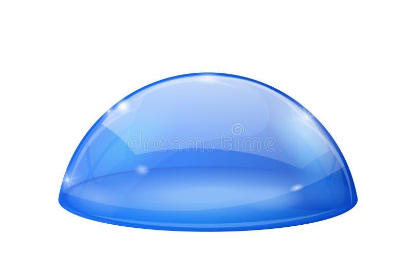 Abóbada azul transparente, semi-esfera de vidro ilustração royalty free