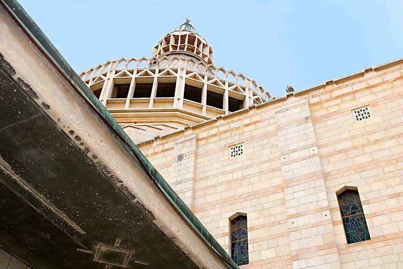 A abóbada da basílica do aviso, igreja do aviso em Nazareth fotos de stock