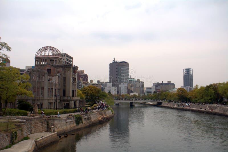 Abóbada da bomba atómica, hiroshima, Japão imagem de stock