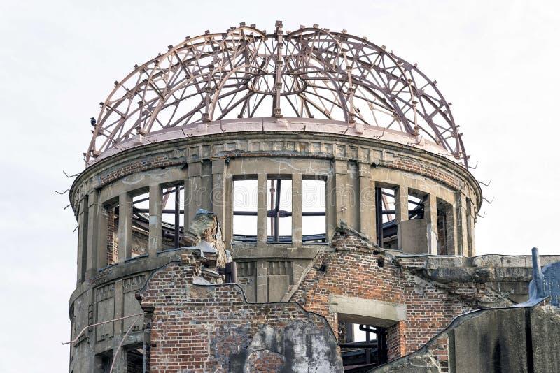 Abóbada da bomba atômica na paz Memorial Park de Hiroshima, Japão fotos de stock royalty free