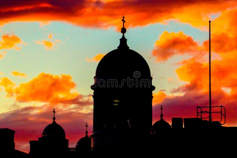 Abóbada da catedral de Helsínquia fotografia de stock royalty free