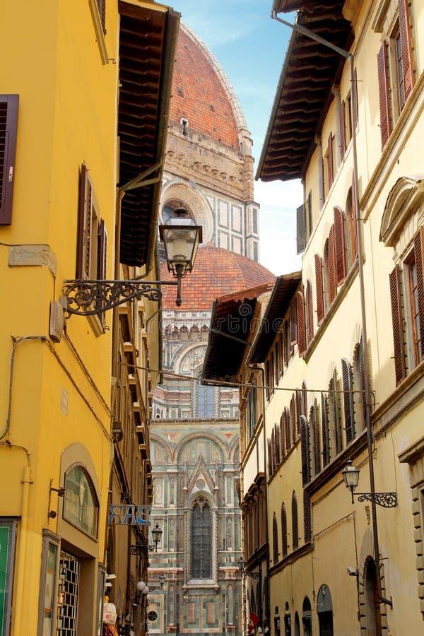 Abóbada da catedral de Santa Maria em Florença foto de stock
