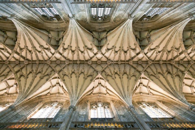 Abóbada da catedral de Winchester foto de stock royalty free