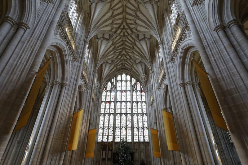 Abóbada da catedral de Winchester imagens de stock