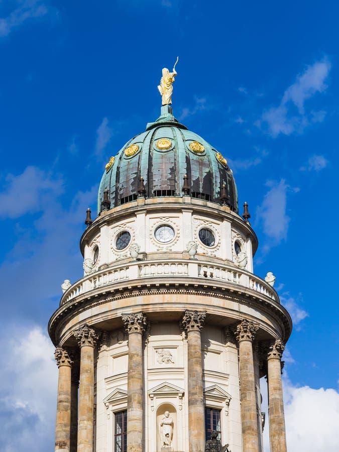 Abóbada da catedral francesa em Berlim fotos de stock royalty free