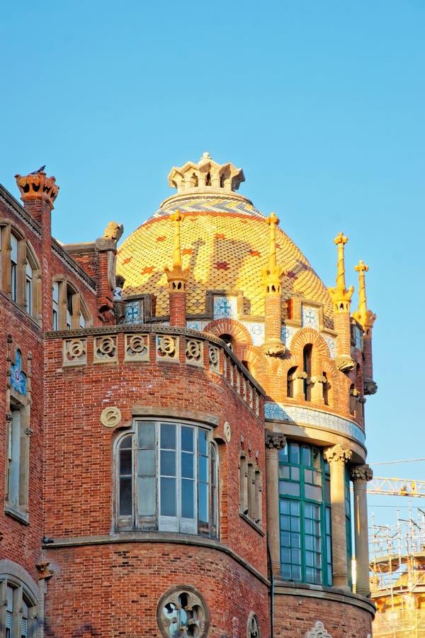 Abóbada da construção de Hospital de Sant Pau em Barcelona fotos de stock