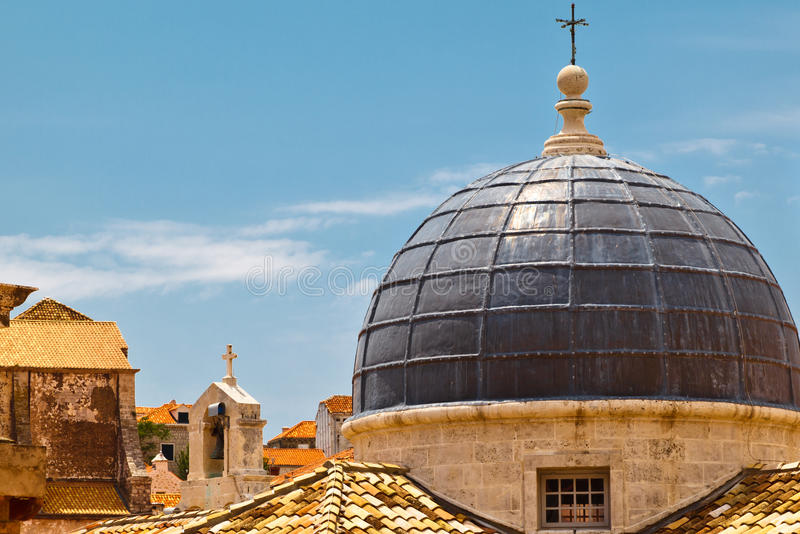 Abóbada da igreja em Dubrovnik imagem de stock