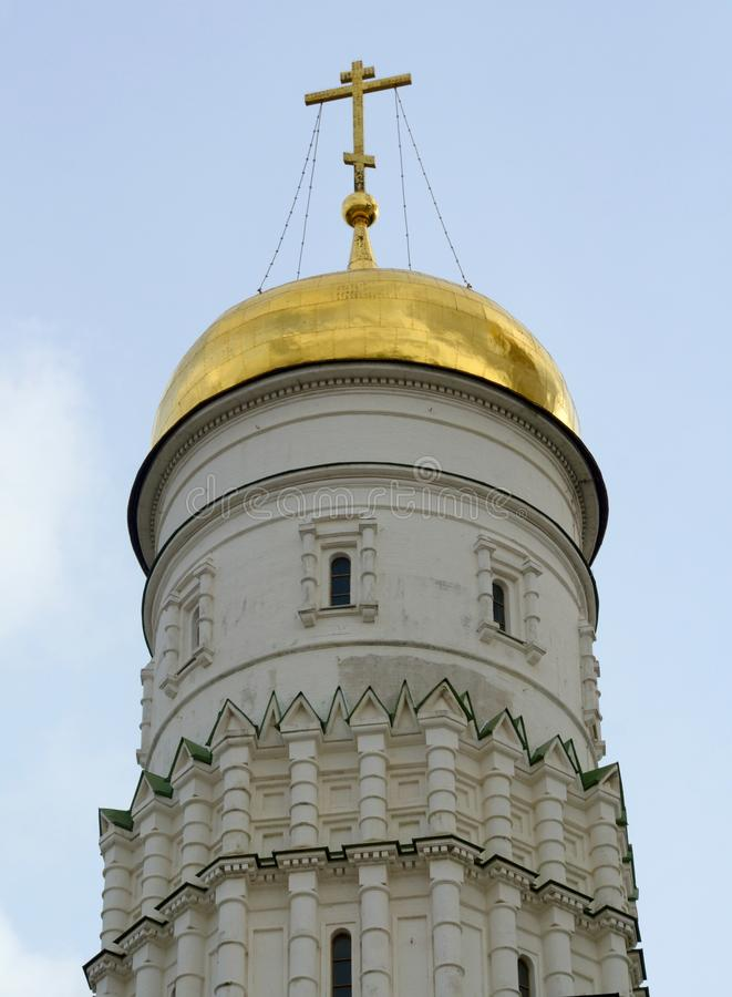 Abóbada da igreja no Kremlin fotografia de stock royalty free