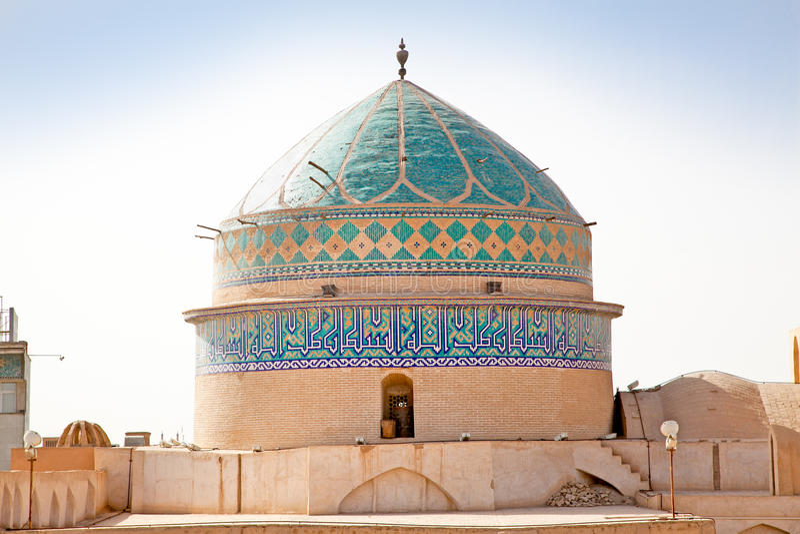 Abóbada da mesquita de Chakhmgh do Amir de Takyeh, Yazd, Irã foto de stock royalty free
